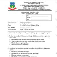 Contoh Soal UAS Tema 3 Kelas 4 SD Semester 1