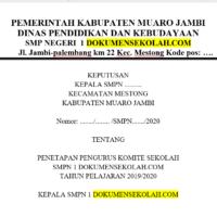 Contoh SK Komite Sekolah