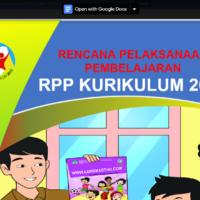 download rpp 1 lembar kelas 4 semester 2